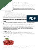 17 Makanan Untuk Penderita Penyakit Ginjal