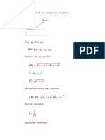 Formulas de Vectores y Cinematica