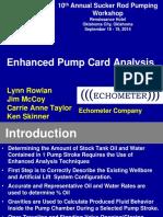 Enhanced Pump Card Analysis