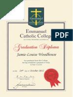 ecc college graduation certificate