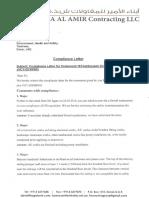 Compliance Letter