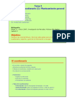 Tema 5 Diseño Del Cuestionario Planteamiento General