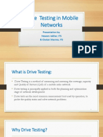 Drive Testing in Mobile Network