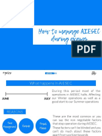 how to manage aiesec during exams