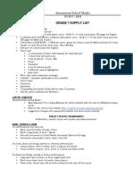 Grade 7 Supply List for SY1718