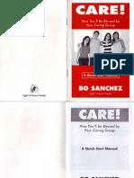 Caring Group Manual by Bo Sanchez