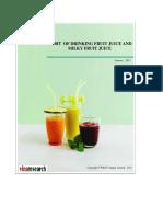 W&S Report Habit of Using Fruit Juice