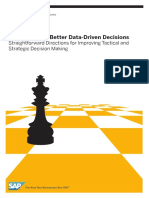 A Road Map to Better Data Driven Decisions Straightforward Directions for Improving Tactical and Strategic Decision Making 1 125296