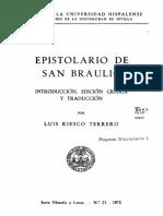 Braulio de Zaragoza Epistolario (Riesco)