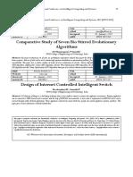 Comparative Study of Seven Bio Stirred Evolutionary Algorithms