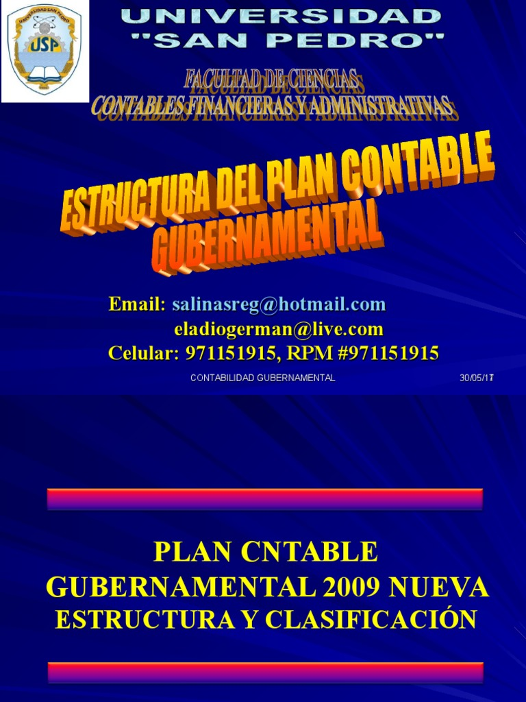 Estruct Plan Contable Gubernamental
