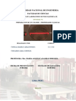 PREPARACION DE UN COLOIDE – PROPIEDADES CLÁSICAS.