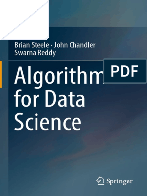Algorithms for Data Science 1st Brian Steele(Www ebook Dl com