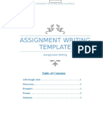assignment writing template