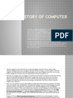 The History of Computer