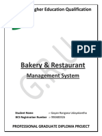 Project Report on Bakery Management System | Databases | Prototype