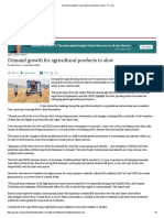 Demand Growth for Agricultural Products to Slow - FT