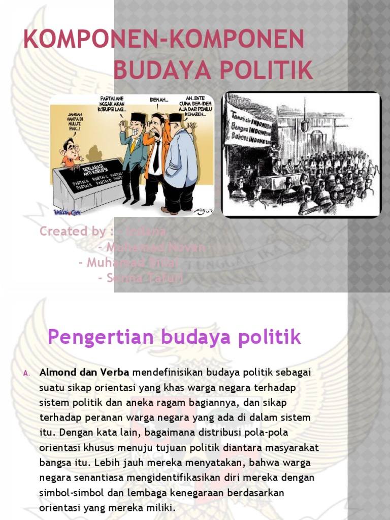 Komponen-Komponen Budaya Politik