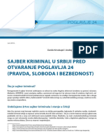 Sajber Kriminal u Srbiji Pred Otvaranje Poglavlja