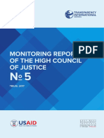 Monitoring Report of the High Council of Justice n 5