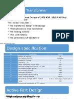 1.6 MVA Dry Transformer Design