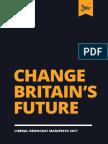 Lib Dem Manifesto 2017