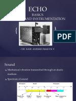 Dr.aneesh ECHO Basics and Instrumentation