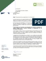 Lettre du PQ adressée à Québec solidaire