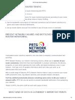 PRTG Router Monitoring Software