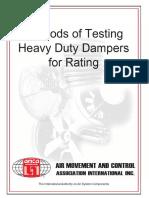 Methods of Testing Heavy Duty Dampers
