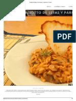 Risotto de Setas y Parmesano - Nutricion y Cocina