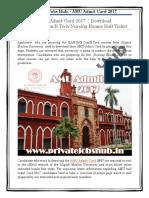 AMU Admit Card 2017 | Download BA/B.Sc/B.Com/B.Tech/Nursing Exams Hall Ticket