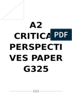 a2 Critical Perspectives Paper g325 Revision Pack
