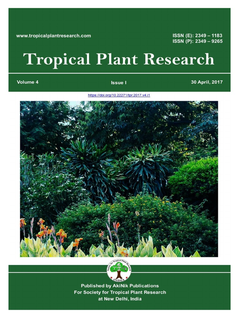volume 4 issue 1 2017 tropical plant research citrus seed