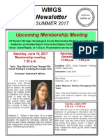 WMGS Newsletter Summer 2017