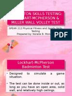 Badminton Skills Testing