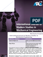 International Journal of Modern Studies in Mechanical Engineering -ARC Journals