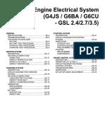 Engine Electrical System (G4JS - G6BA - G6CU - GSL 2.4 - 2.7 - 3.5)