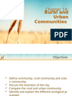 Chapter 14 - Rural & Urban Communities
