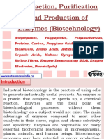 Extraction, Purification and Production of Enzymes (Biotechnology) (Polystyrenes, Polypeptides, Polysaccharides, Proteins, Carbon, Propylene Oxide, Vinyl Chloride, Biosensors, Amino Acids, Antibiotics, Acrylamide, Organic Acids, Maltose Syrups, Hollow Fibres, Hollow Fibres, Enzyme Immunoassay (ELA), Enzyme Electrodes, Biocatalysts)