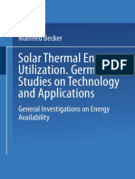 SOLAR THERMAL ENERGY UTILIZATION - Volume 1 General Investigations on Energy Availability