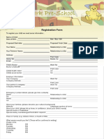 Haward Pre School Form