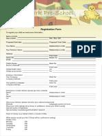 Haward Pre School Form
