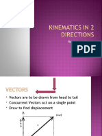 Kinematics in 2 Directions
