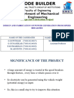 Final Project Review Power Gen From Speed Breakers Design & Fab. Project