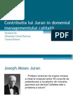 Contributia Lui Juran in Domeniul Managementului Calitatii
