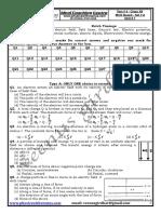 Test # 4 Electrostatics Complete Unit MCQ Type SET # A