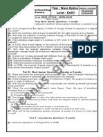 Test on WAVE OPTICS - LEVEL EASY.pdf