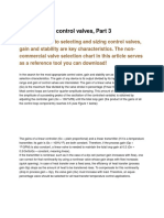 How to Select Control Valves - Part 3