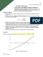 Aula14 Exercícios Do Método de Newton-Raphson